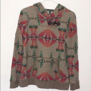 Ralph Lauren Tribal Aztec Hoodie Size Medium